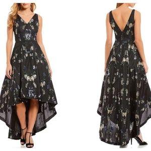 Calvin Klein High Low Floral Sequin Maxi Dress